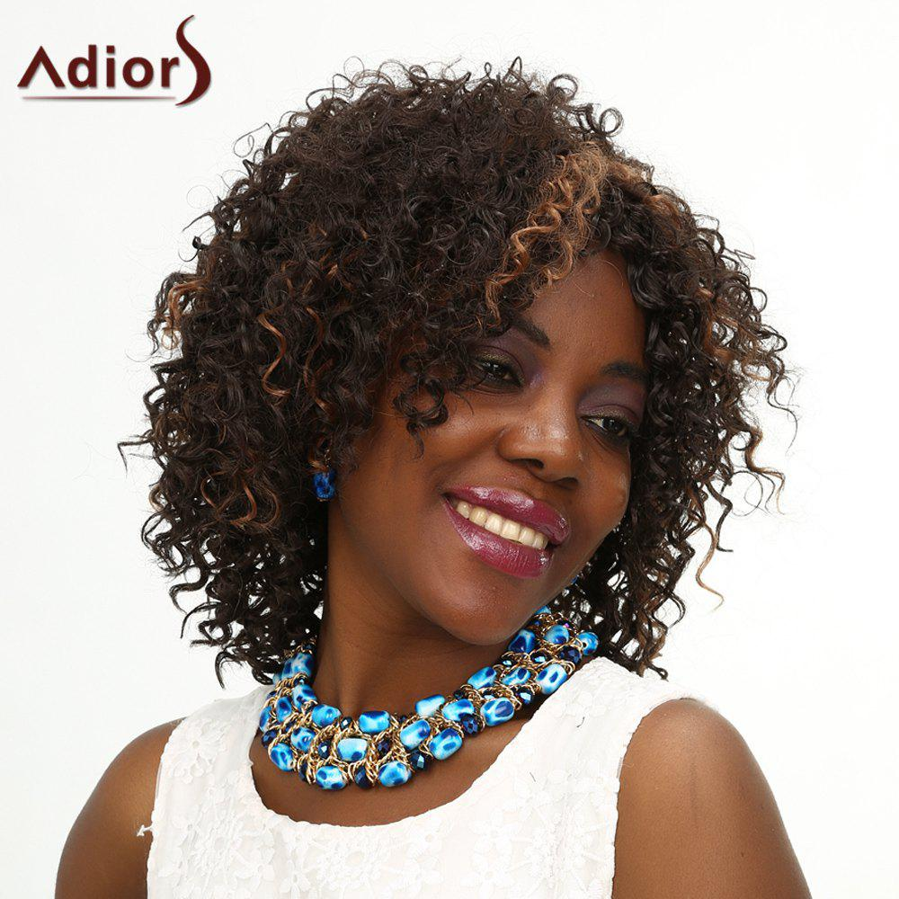 Women's Fashion Adiors High Temperature Fiber Curly Wig - COLORMIX