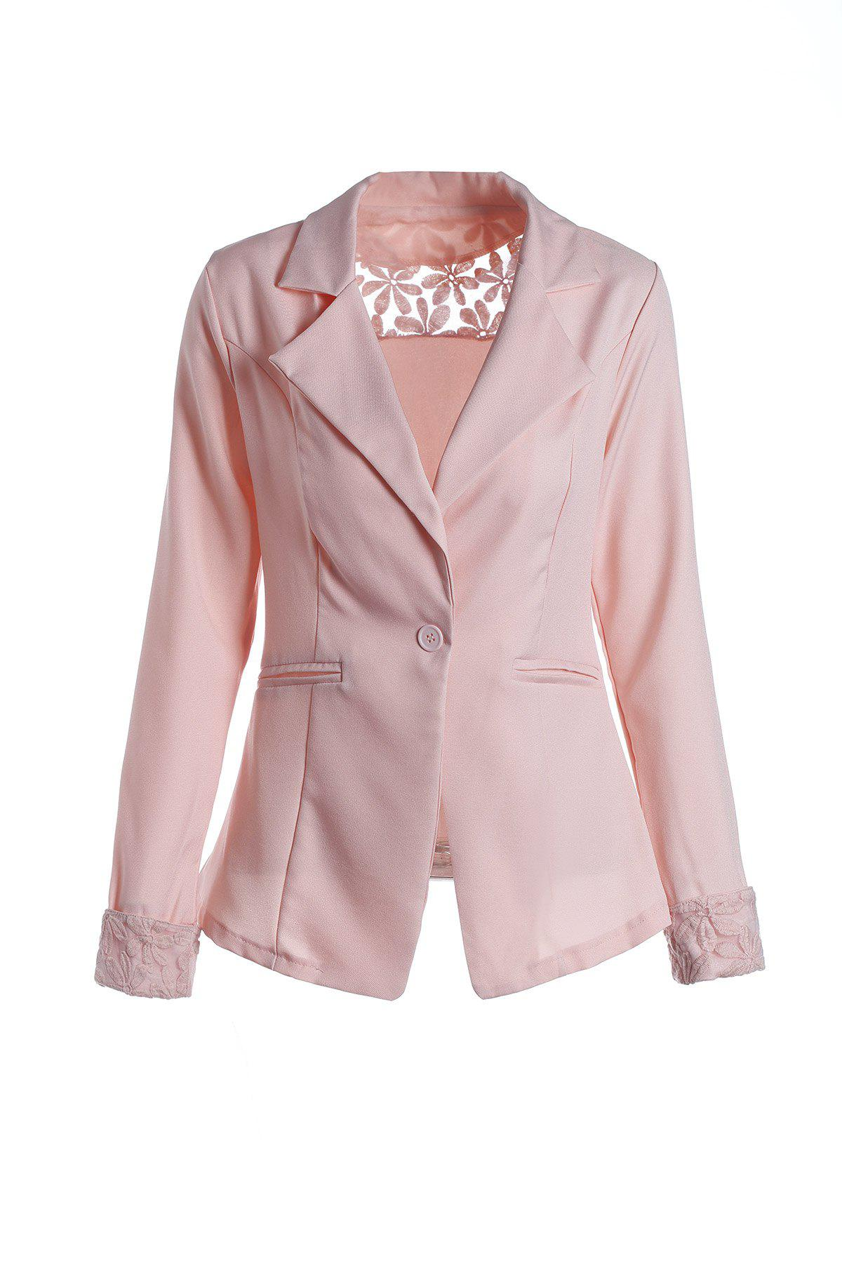 Dresslily FR Stylish Lapel Long Sleeve Hollow Out Slimming Women's Blazer