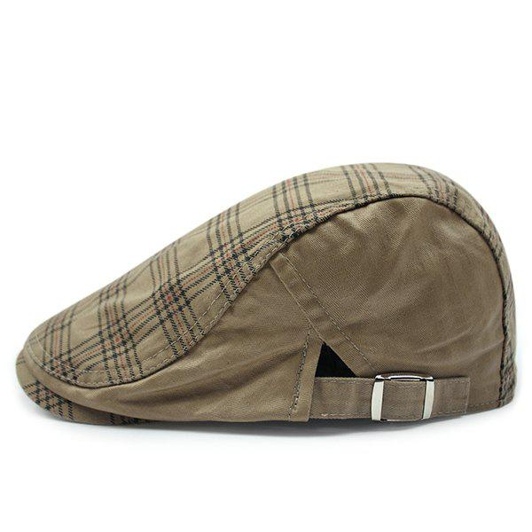Fashion Plaid Pattern Sun-Resistant Outdoor Cabbie Hat