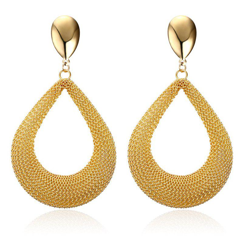 Pair of Alloy Water Drop Earrings - GOLDEN
