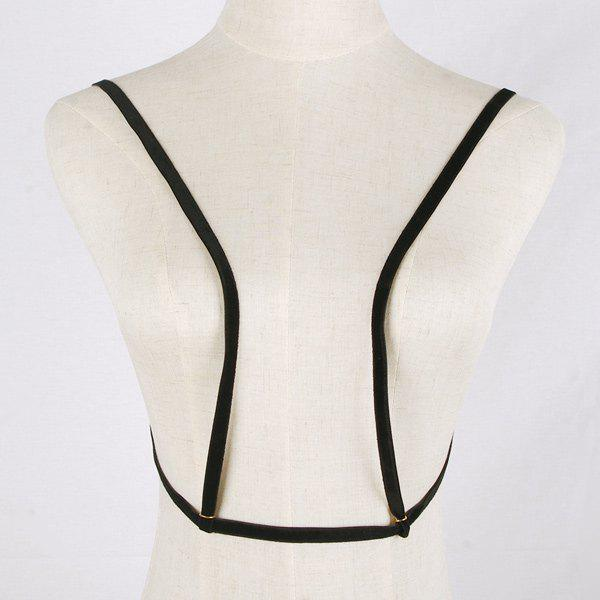 Rock Style Black Band Punk Style Body Chain For Women - BLACK