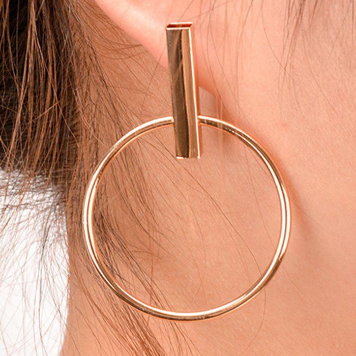 Pair of Simple Solid Color Circle Geometric Earrings For Women