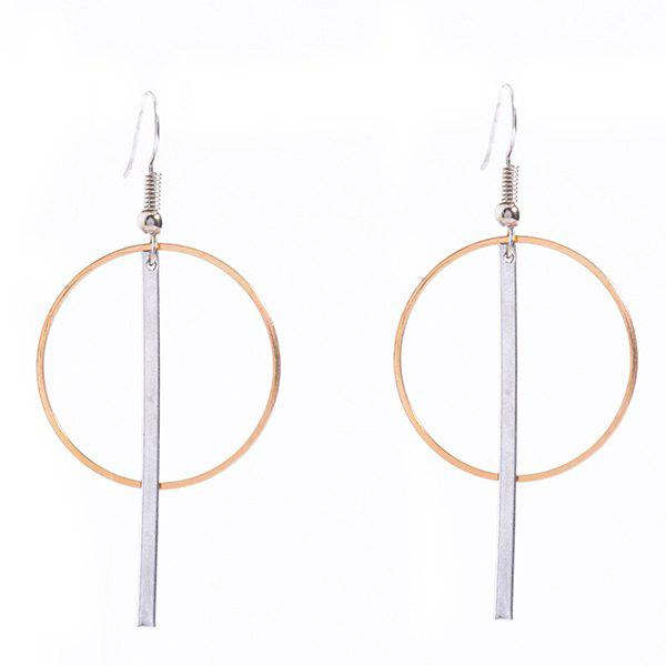 Pair of Simple Crossed Stick Circle Earrings For Women