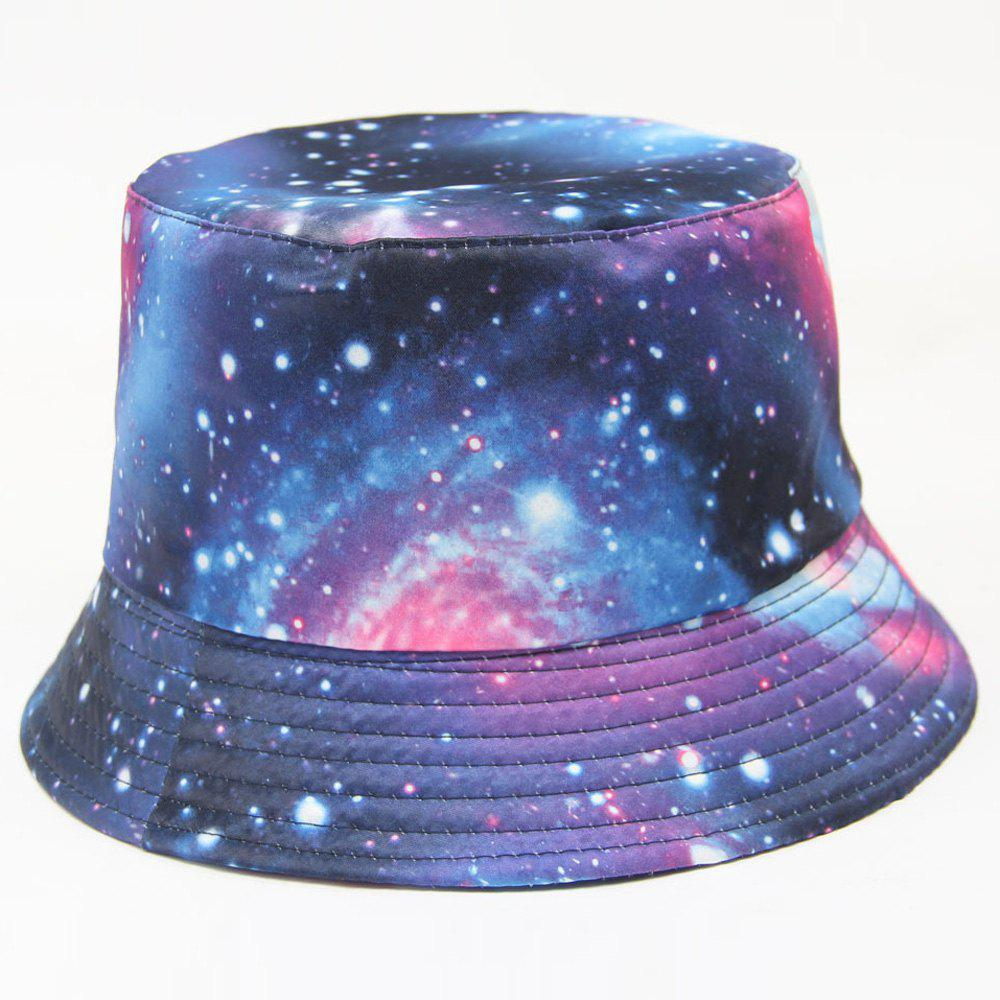 Personality Fashion Shinning Stars Pattern Starry Sky Print Series Hipsters Bucket Hat - DEEP BLUE