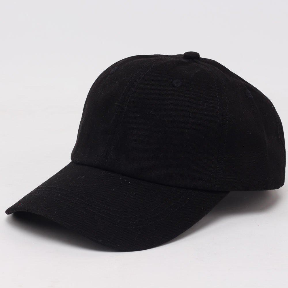 Fashion Solid Color Outdoor Sun-Resistant Golf Baseball Cap - BLACK