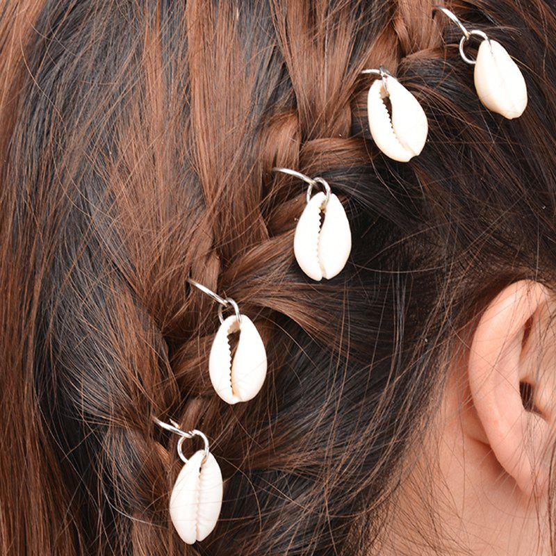 Simple 5 Pcs Shell Decorated Hairpin For Women - SILVER
