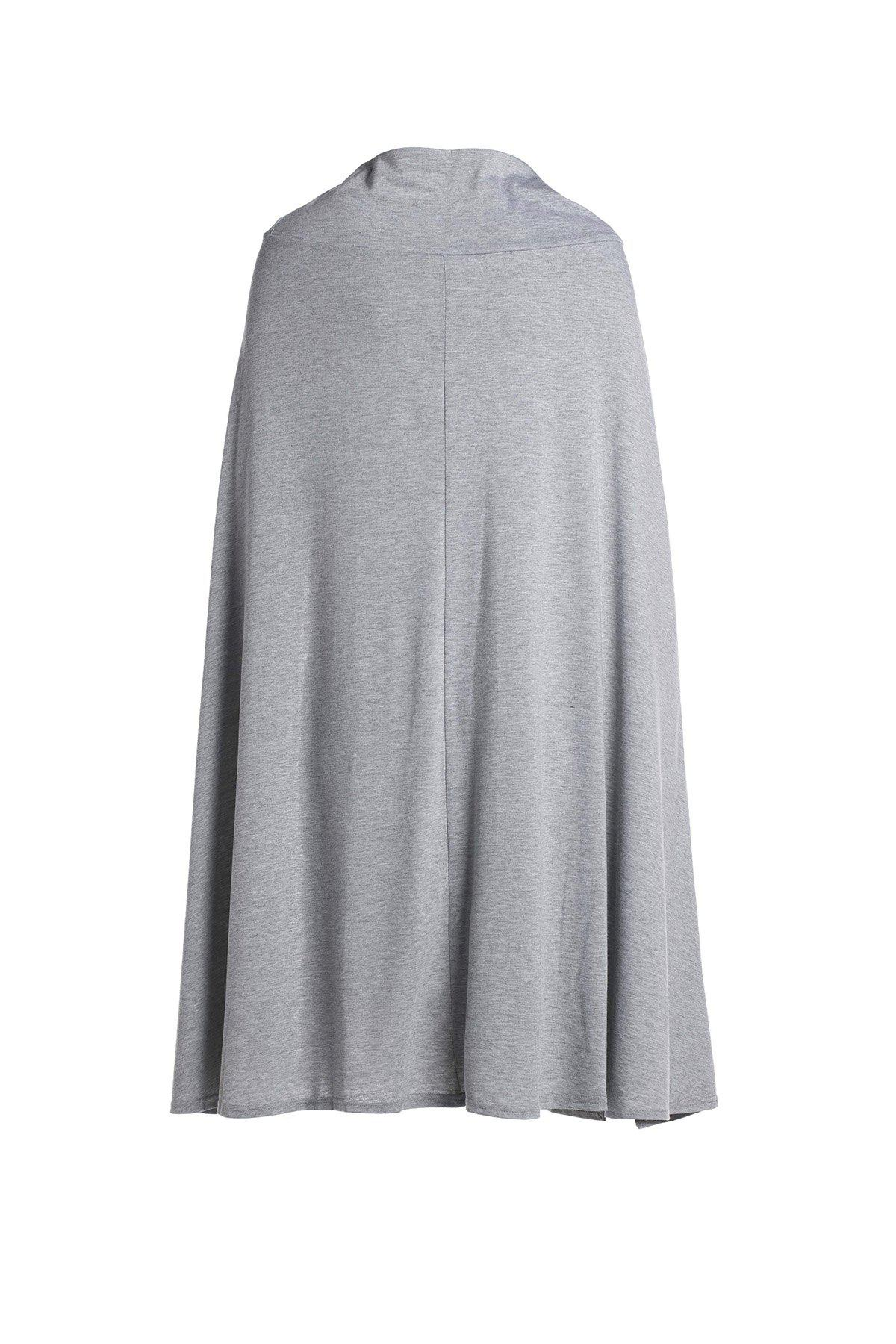 Casual High Slit Solid Color Women's Skirt - GRAY L
