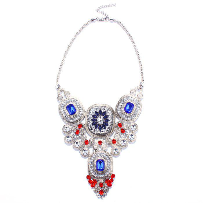 Stunning Faux Crystal Geometric Necklace Jewelry For Women