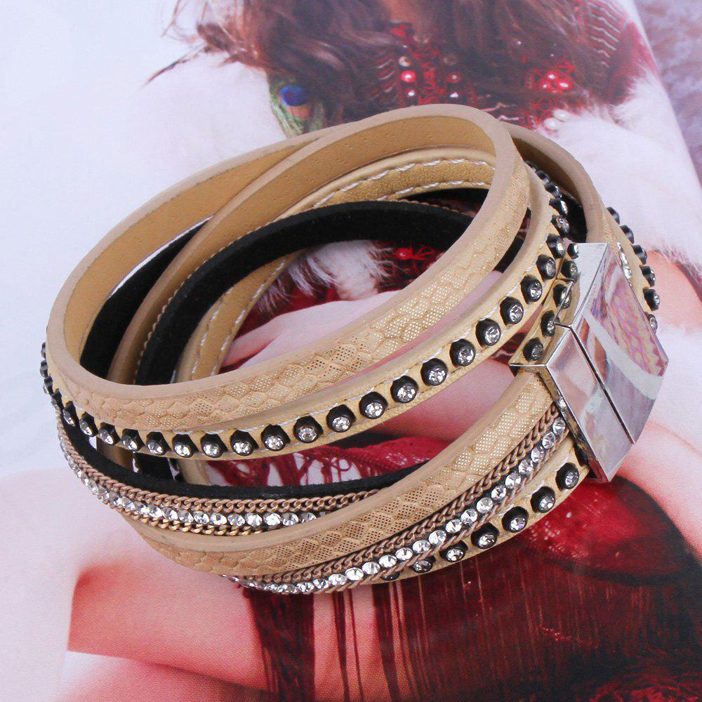 Charming Faux Leather Alloy Bracelet Jewelry For Women