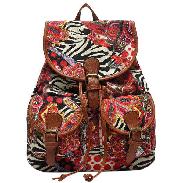 Casual Drawstring and Cover Design Women's Satchel - COLORMIX