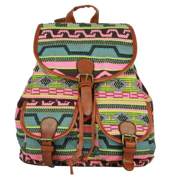 Casual Buckle and Cover Design Women's Satchel - COLORMIX