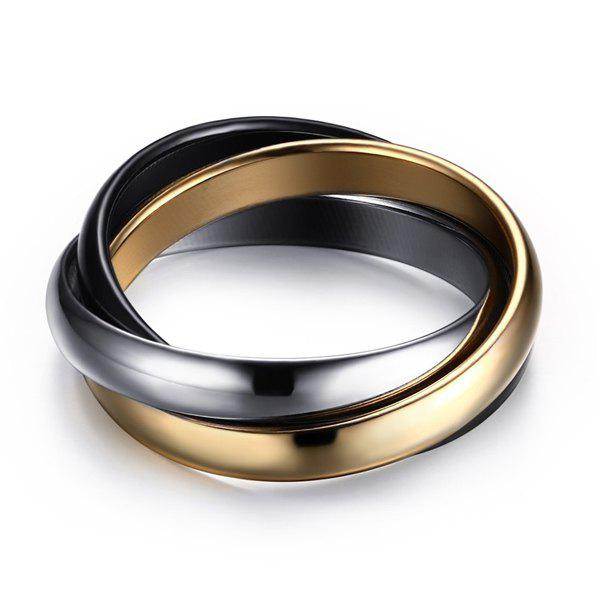 Stylish Mixed Colors Tricyclic Ring For Women
