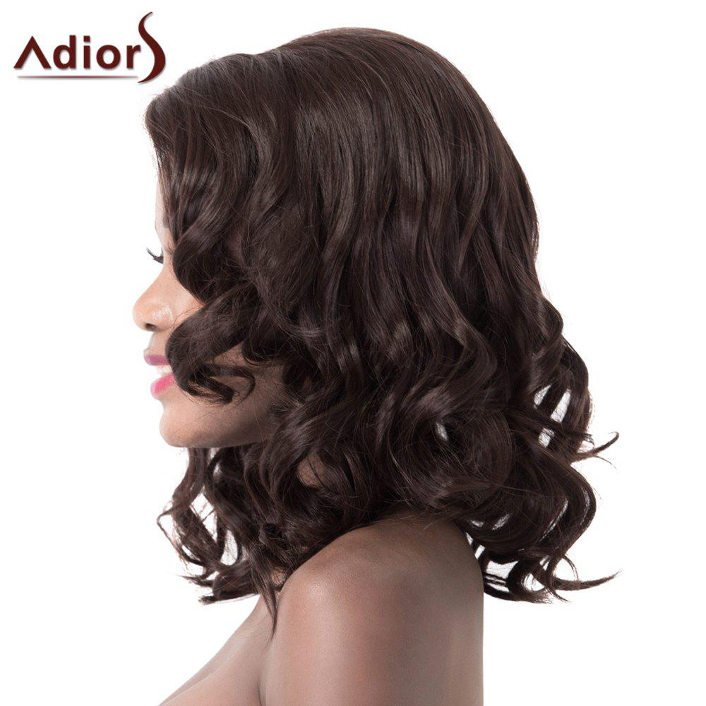 Attractive High Temperature Fiber Adiors Women's Curly Long Wig - DEEP BROWN