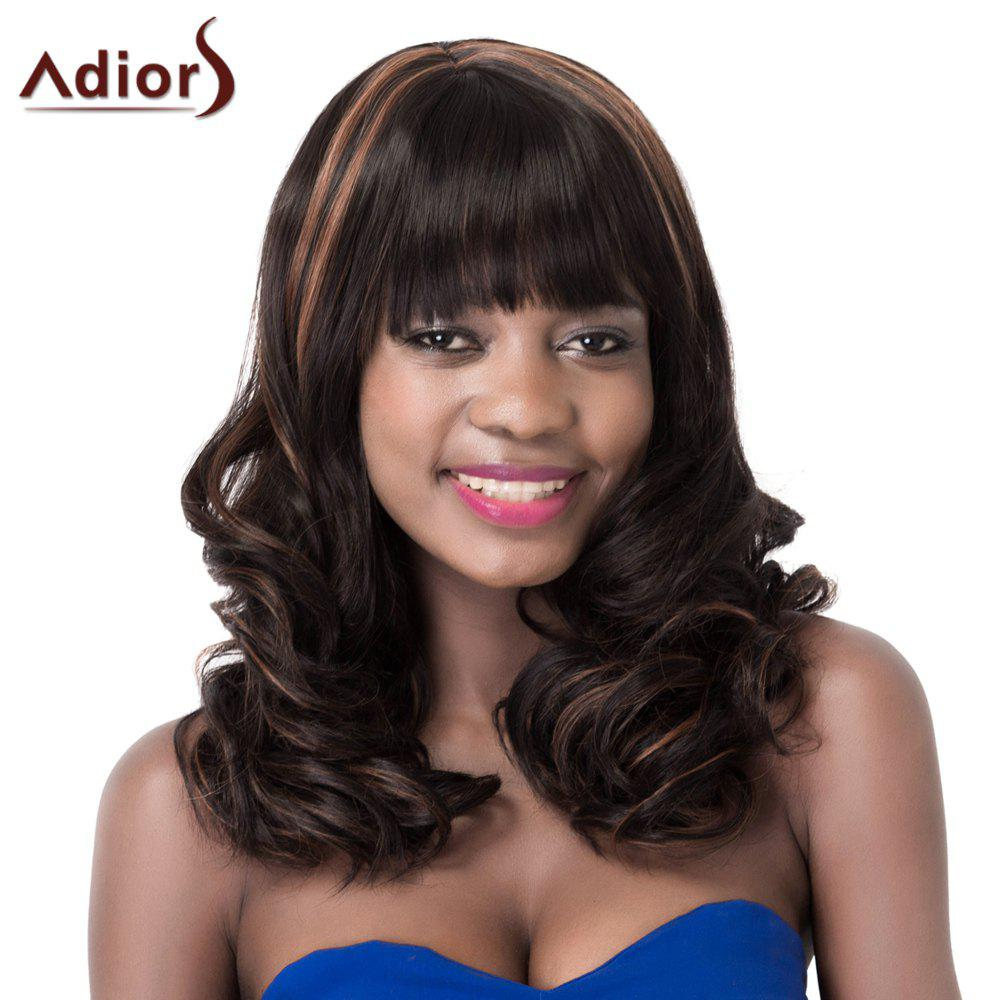 Attractive High Temperature Fiber Adiors Curly Women's Wig - COLORMIX