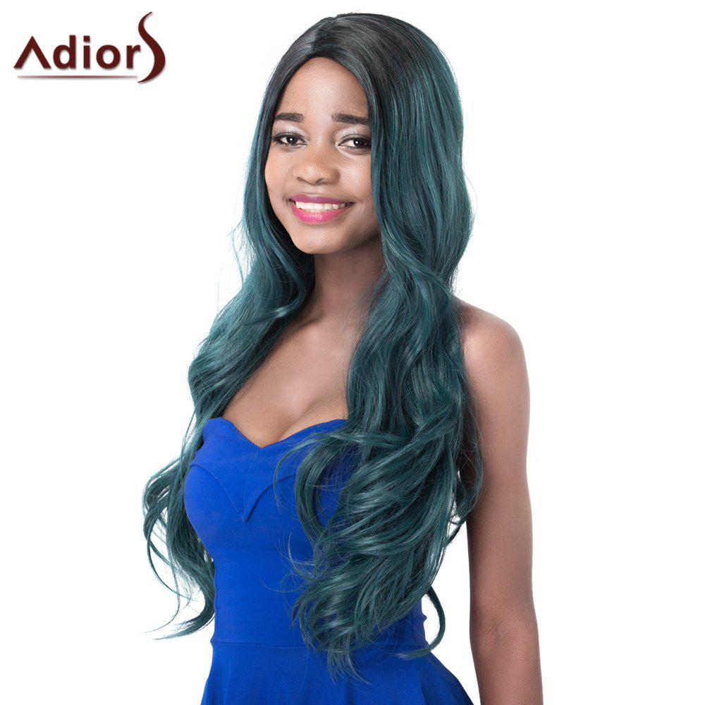 Attractive High Temperature Fiber Adiors Curly Ombre Women's Wig -  OMBRE