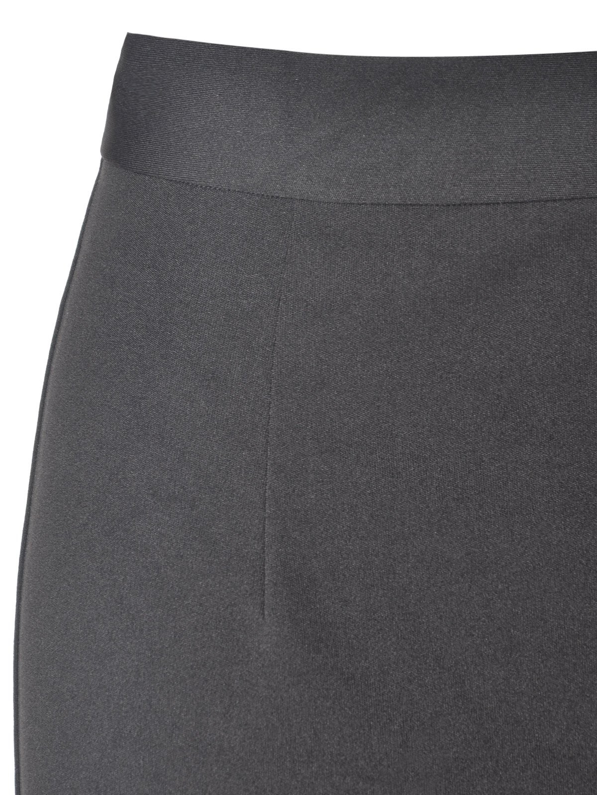 Simple Women's Fitted High Waist Solid Color Skirts - BLACK M