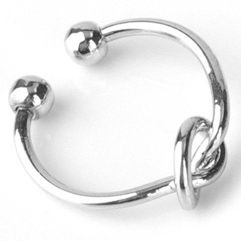 Simple Solid Color Knot Opening Ring For Women