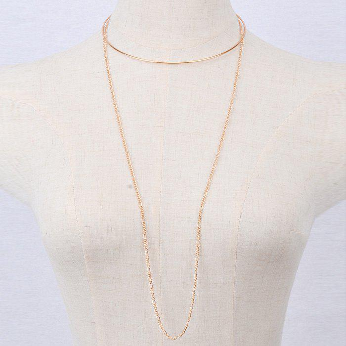Simple Multilayer Solid Color Chain Torques For Women