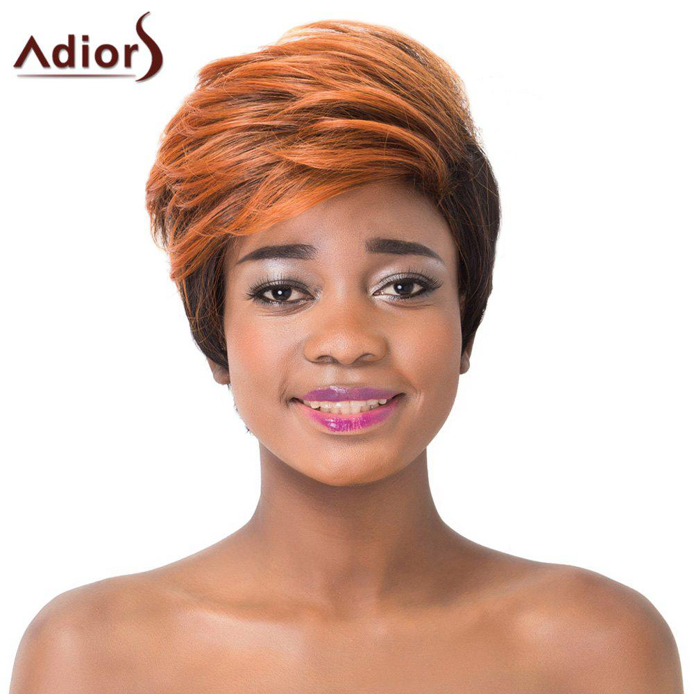 Trendy Straight Synthetic Adiors Two-Tone Ombre Short Capless Wig For Women