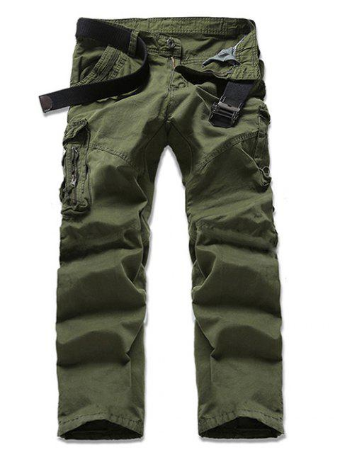 Casual Solid Color Men's Cargo Pants - ARMY GREEN 30