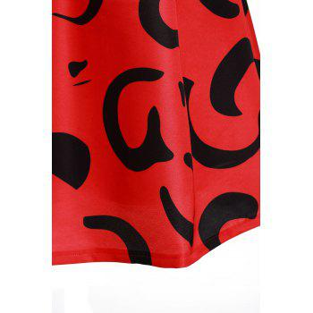 Sweet Abstract Print Zippered Mid-Calf Skirt For Women - S S