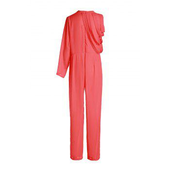 Bluffton for solid cape sleeve hollow out chiffon wide leg jumpsuit indian online