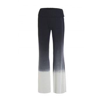 Stylish Elastic Waist Ombre Wide Leg Women's Pants