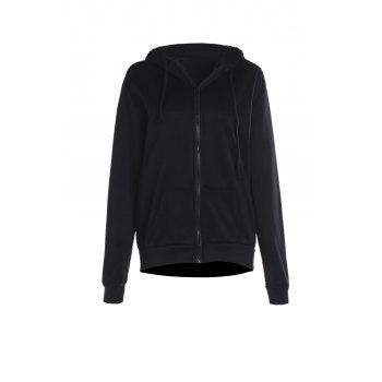 Women's Chic Pure Color Long Sleeve Hooded Wing Design Coat