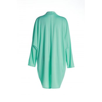 Cowl Neck Long Sleeve Pure Color Coat For Women - XL XL