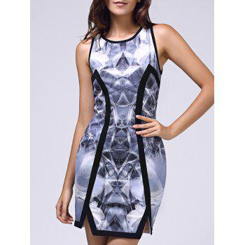 Bodycon Women's Printed Sleeveless Round Neck Dress