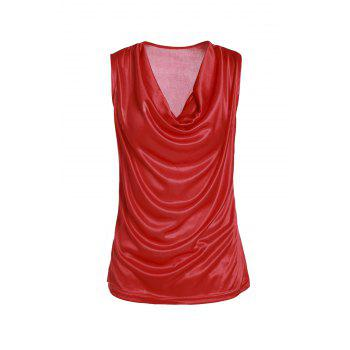 Stylish Cowl Neck Sleeveless Solid Color Draped Women's Tank Top