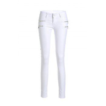 Stylish Low-Waisted Slimming Zippered Women's Pants