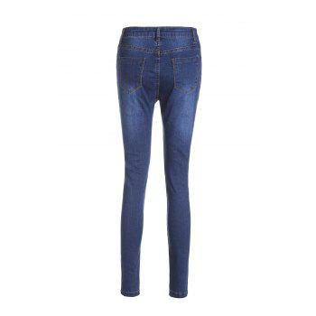 Chic High-Waisted Bodycon Hole Design Women's Jeans - XL XL