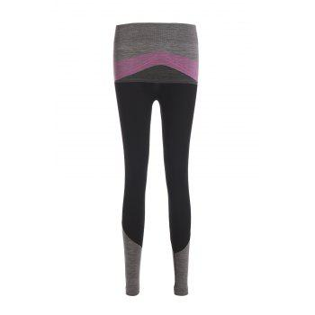 Chic Color Block Spliced High Stretchy Women's Yoga Pants