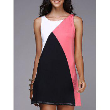 Color Block Sleeveless Tank Top Dress