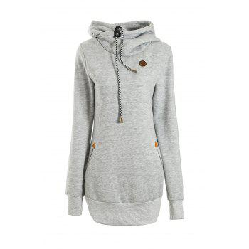 Women's Chic Solid Color Long Sleeve Hooded Hoodie