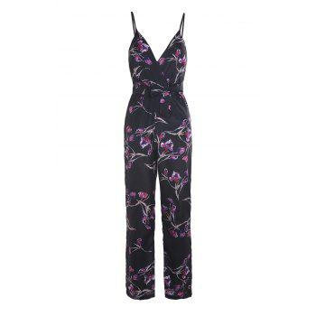 Women's Chic Halter Sleeveless Floral Print Jumpsuit