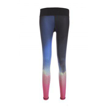 Stylish Elastic Waist Slimming Color Block Women's Yoga Pants