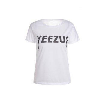 Casual Style Jewel Neck Short Sleeve Letter Women's T-Shirt