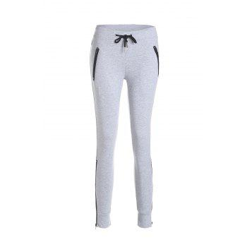 Active Women's Self-Tie Grey Pants