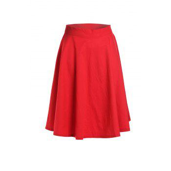 Noble Solid Color High Waist A-Line Ball Skirt For Women