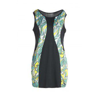 Stylish Sleeveless Abstract Print Bodycon Plus Size Dress For Women