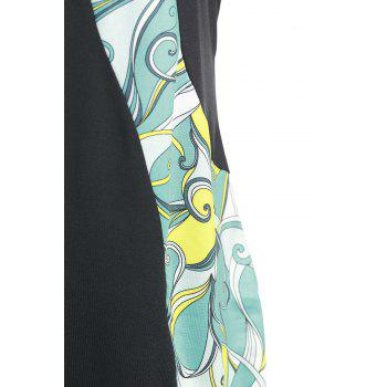 Stylish Sleeveless Abstract Print Bodycon Plus Size Dress For Women - COLORMIX 2XL