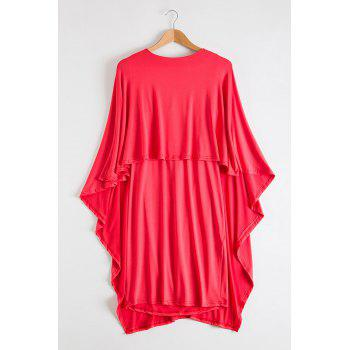 Attractive Bertha Collar Backless Solid Color Bodycon Cape Dress For Women