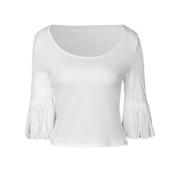 Elegant Knit Half Sleeve Render T-Shirt For Women