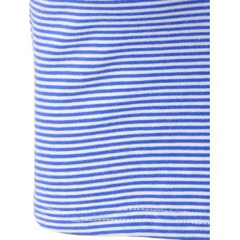 Fashionable Striped Contracted Short T For Women - BLUE/WHITE S
