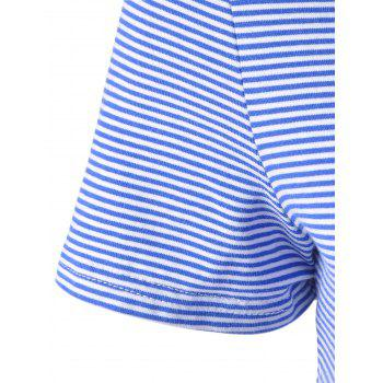 Fashionable Striped Contracted Short T For Women - BLUE/WHITE L