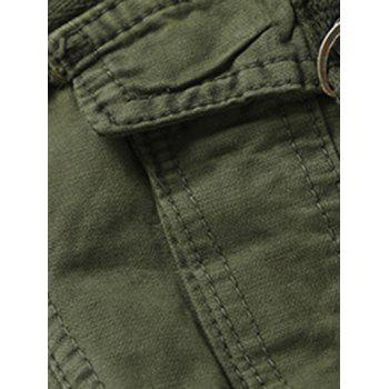 Casual Solid Color Men's Cargo Pants - ARMY GREEN 29