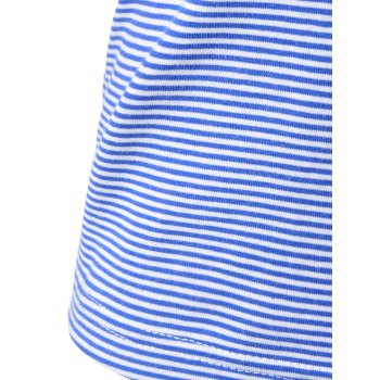 Striped Navy Wind Condole Belt Vest For Women - BLUE/WHITE BLUE/WHITE