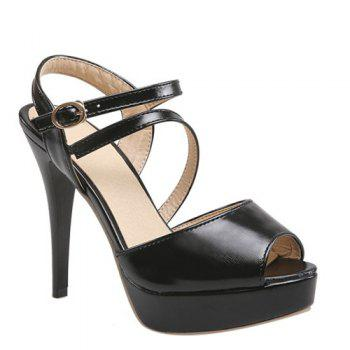 Fashionable Peep Toe and Platform Design Women's Sandals
